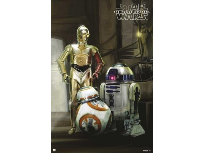BB-8 con R2-D2 e C-3PO