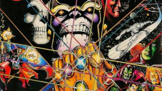 Thanos col il Guanto dell'Infinito