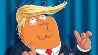 I Griffin riproducono il presidente all'interno dello show