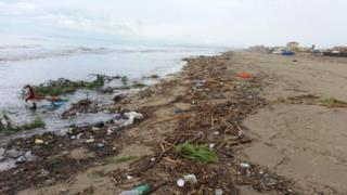 Una marea di peni di plastica