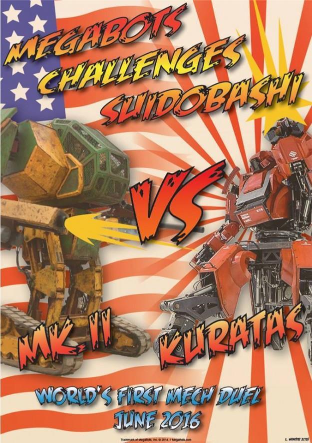Il primo duello tra robot giganti si terrà nel 2016