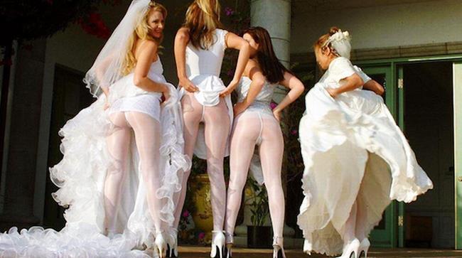 Belfie di uno sposalizio in America