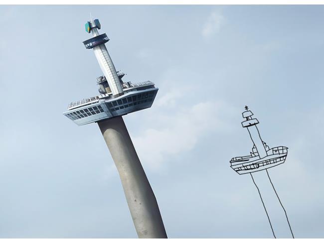 Torre creata con Photoshop e disegno originale