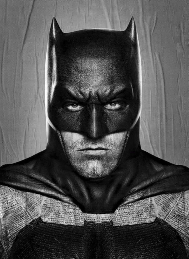 La versione senza censure del poster di Batman in Dawn of Justice