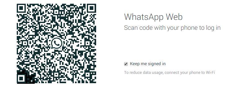 WhatsApp su desktop: il QR Code
