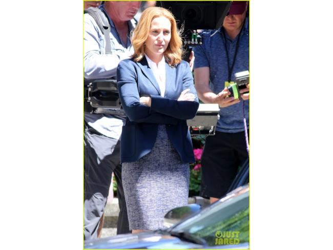 Foto dal set di X-Files: Dana Scully