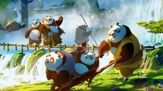 I panda in Kung Fu Panda 3
