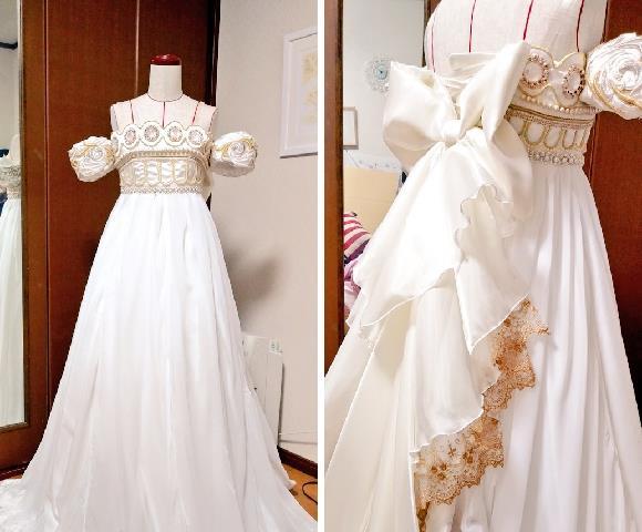 La perfetta riproduzione dell'abito della principessa Serenity