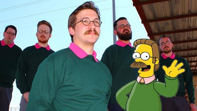 Gli Okilly Dokilly con Ned Flanders