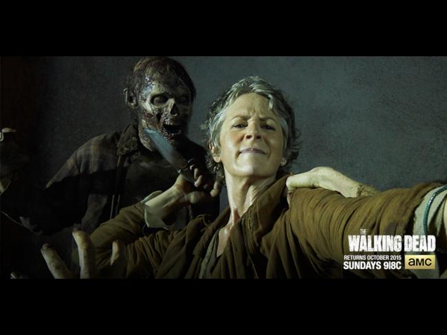 Carol in un banner promozionale di The Walking Dead