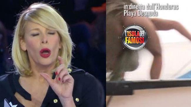 Alessia Marcuzzi in diretta