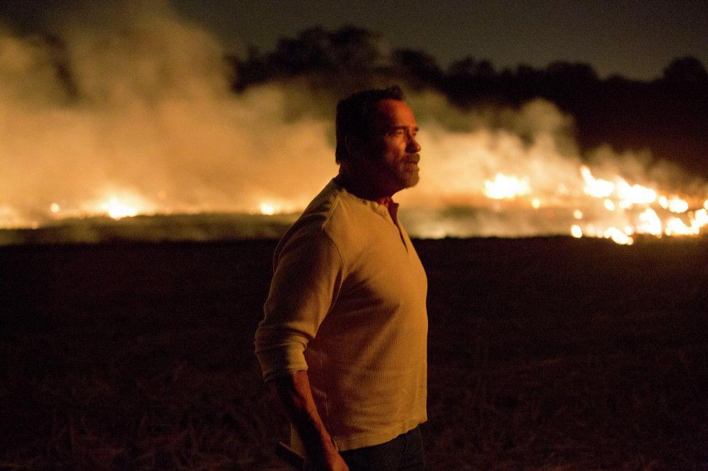 Arnold Schwarzenegger in un'immagine promozionale di Maggie
