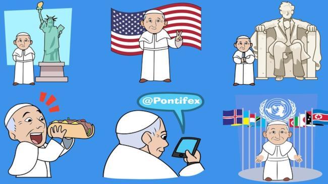 Le emoji del Papa