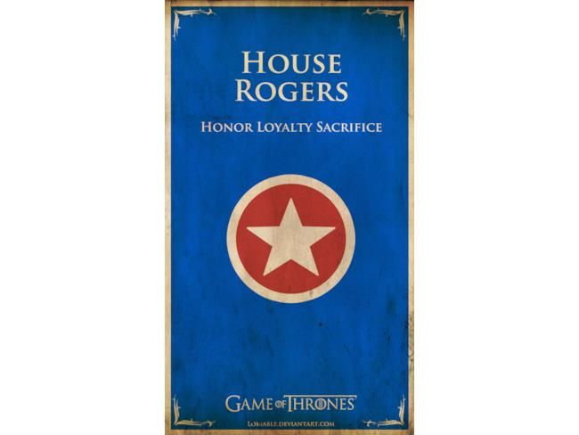 Casa Rogers banner in stile Game of Thrones
