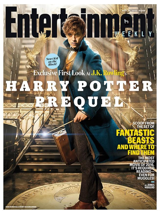 Entertainment Weekly presenta Eddie Redmayne  come Newt Scamander