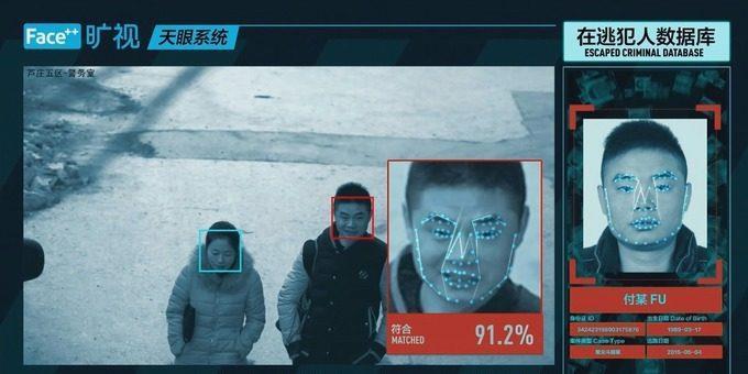 Il sistema di riconoscimento facciale all'opera