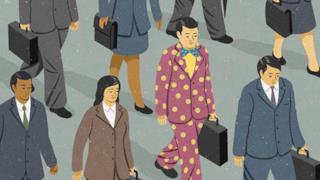 Illustrazione satirica di John Holcroft sulla diversità