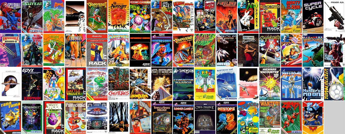 Le copertine dei videogiochi attualmente disponibili.