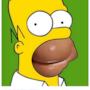 Fotomontaggio di Homer Simpson con il sedere di Kim Kardashian