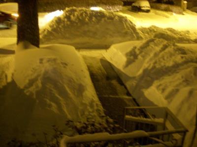 Il quartiere dove è stata creata l'auto di neve