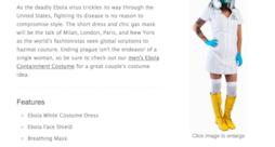 Costume da infermiera sexy alle prese con l'Ebola