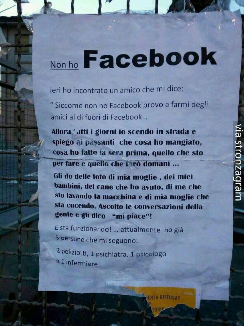Immagini divertenti per WhatsApp - Odio Facebook