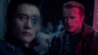 Arnold Schwarzenegger e Byung-hun Lee in Terminator: Genisys