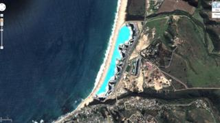 Visione satellitare della piscina più grande del mondo