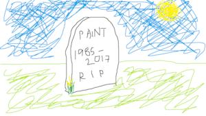 Un esempio di utilizzo del celebre programma Microsoft Paint.