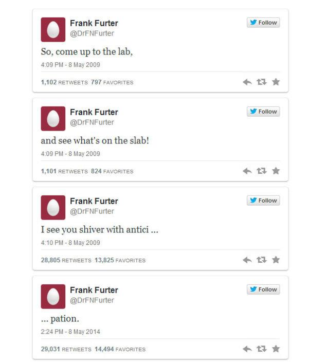 Serie di Tweet sul rocky horror picture show su Twitter