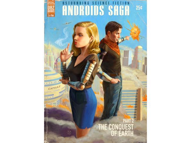 Saga degli Androidi, la seconda copertina pulp con C-17 e C-18