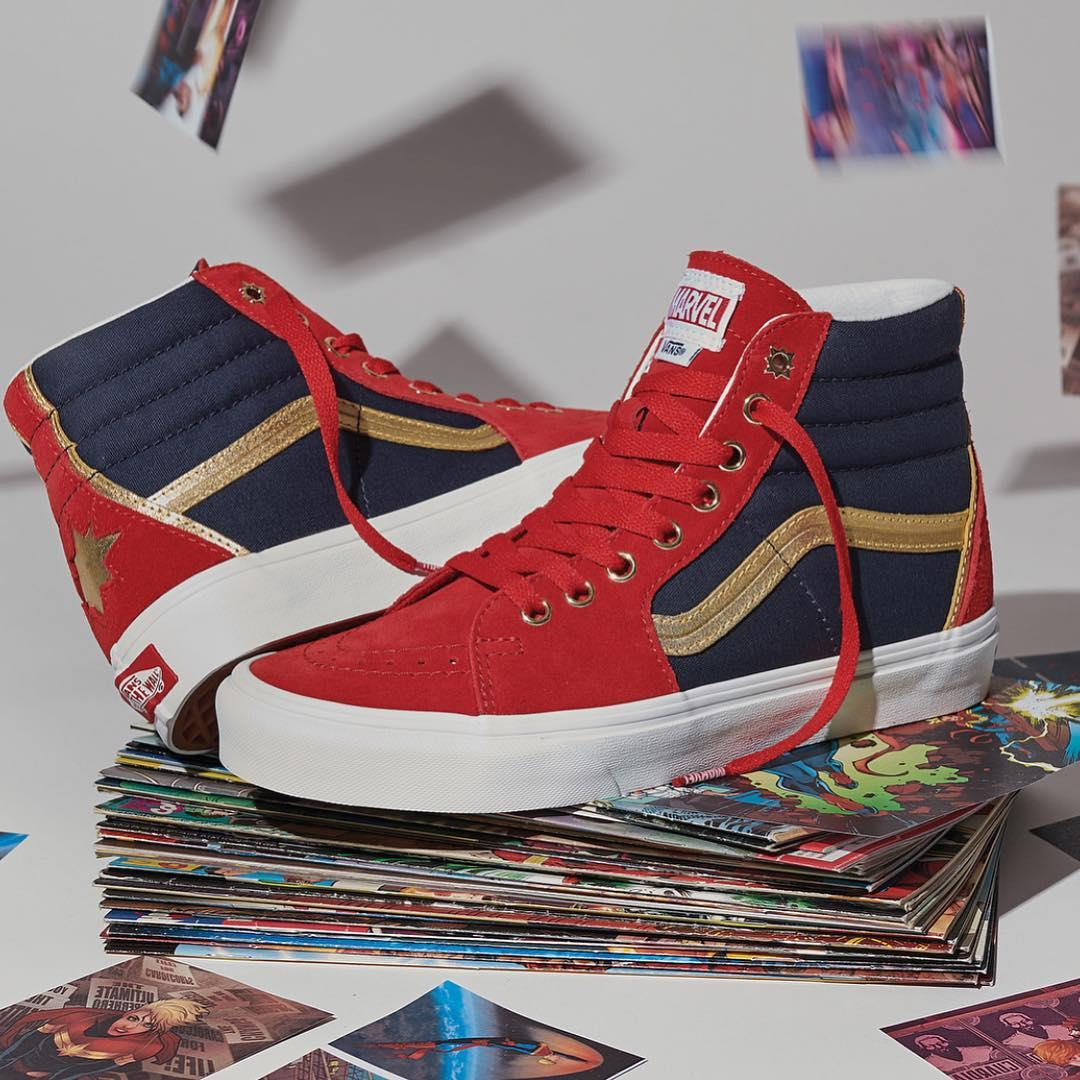 Le scarpe Marvel realizzate da Vans