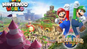 Una locandina pubblicitaria per il probabile Super Nintendo World