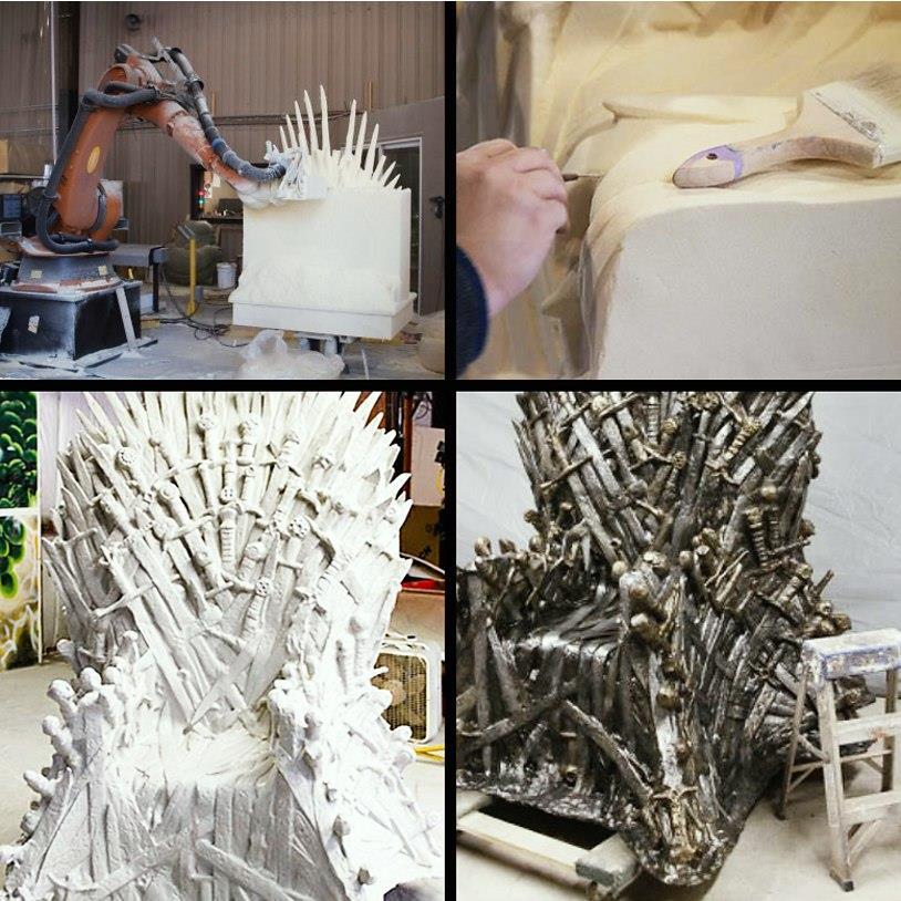 Il trono di spade della celebre serie HBO