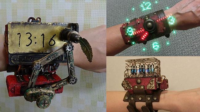 La foto di un orologio steampunk