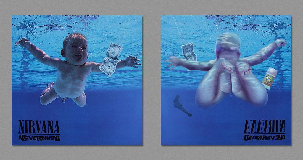 retro della copertina di Nevermind dei Nirvana