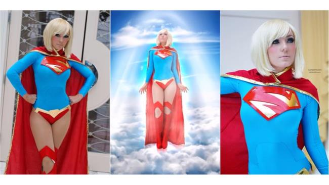 Jessica nei panni di Supergirl