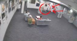 L'immagine catturata dalle videocamere di sorveglianza