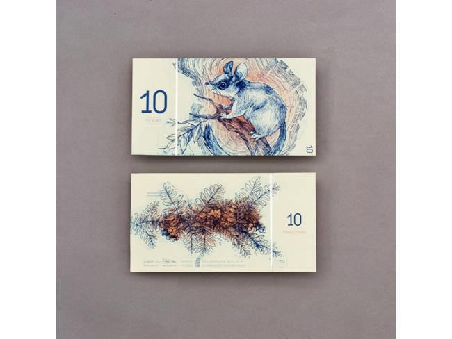 10 euro con ghiro e sorbo