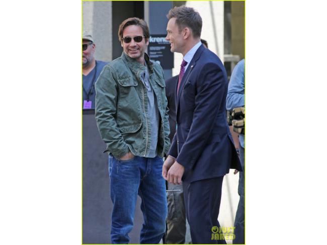 Foto dal set di X-Files: Mulder e il suo alleato