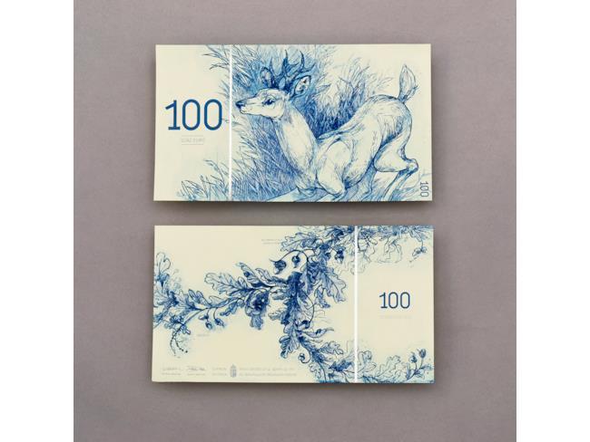 100 euro cervo e quercia