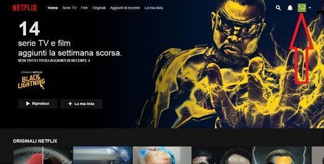 La schermata del proprio account Netflix - Come disdire Netflix, la guida completa
