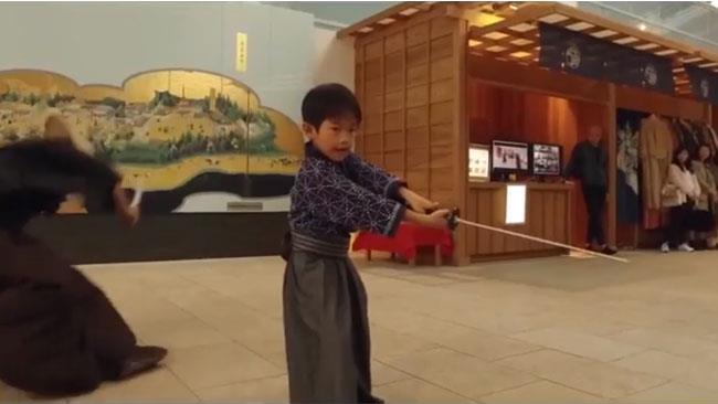 Samurai che lottano