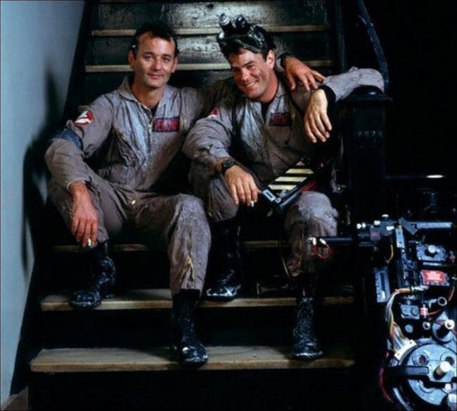 Bill Murray e Dan Aykroyd sul set di Ghostbusters: entrambi compariranno nel reboot