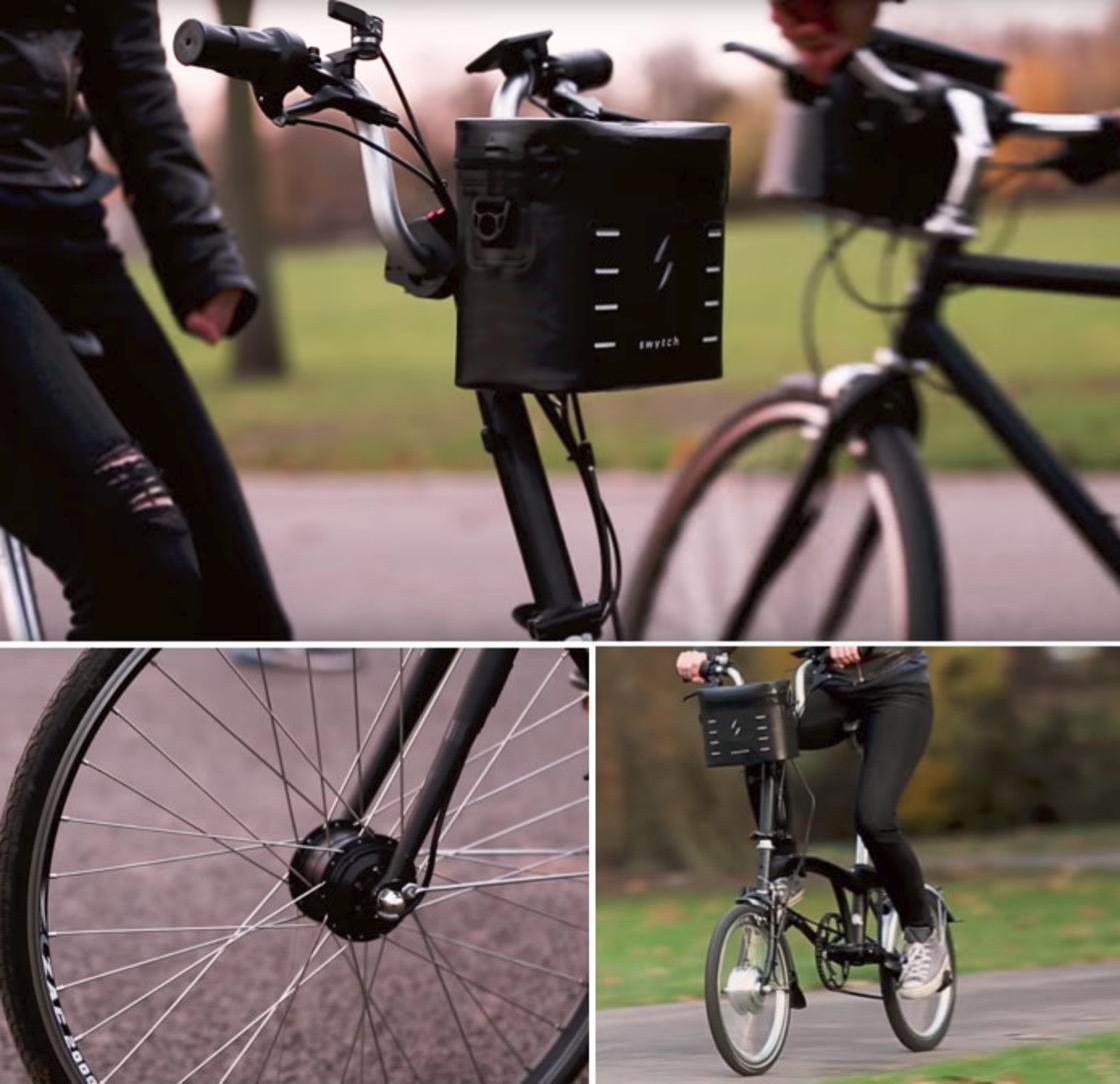 Varie prospettive di una bici elettrica.