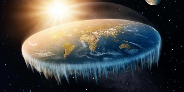 Una rappresentazione della Terra piatta