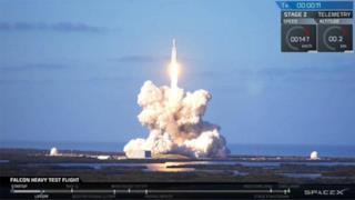 Il lancio del Falcon Heavy
