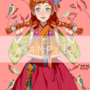 La principessa Anna di Frozen in abiti coreani