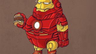 Iron Man in versione obesa
