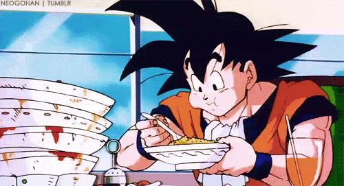 Goku mangia a volontà